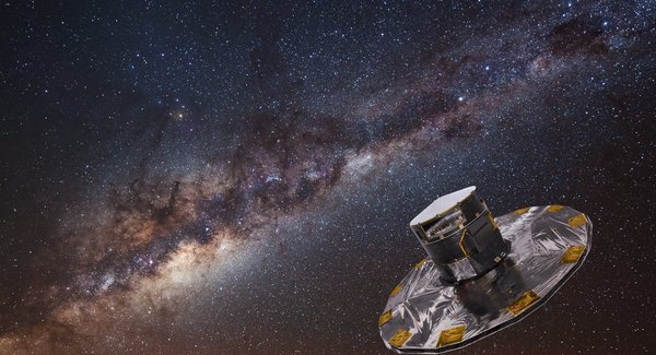 Lg gaia mapping the stars of the milky way copyright esa atg medialab background eso s. brunier