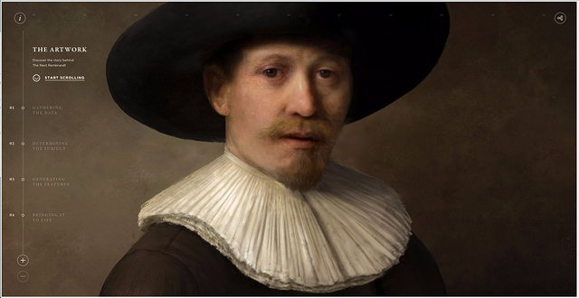 The Next Rembrandt par le collectif Obvious