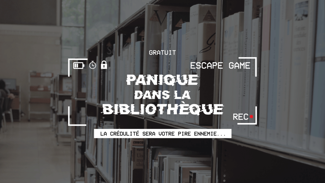 Xl bandeau escape game panique dans la bibliotheque